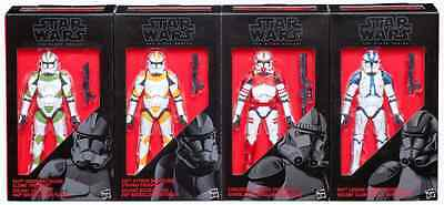 "Star Wars Black Series Figure 6"" Inch Clone Trooper Set 4 Pack Ee Exclusive"