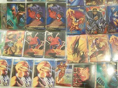 Huge Lot Of 45 Fleer Ultra Spiderman Trading Cards Marvel Comics 1995 Fantasy Jr