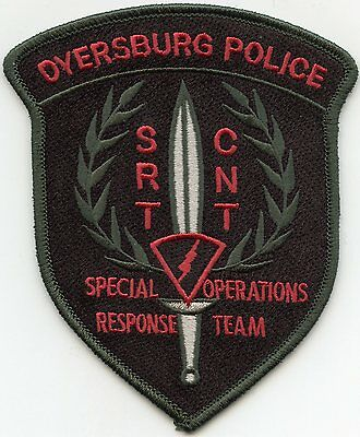 DYERSBURG TENNESSEE TN Special Operations SRT SWAT POLICE PATCH