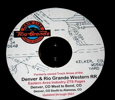 Denver & Rio Grande Eastern Area Industry Tracks ZTS PDF Pages on DVD