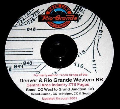Denver & Rio Grande Western Central Area Industry Tracks ZTS PDF Pages on DVD