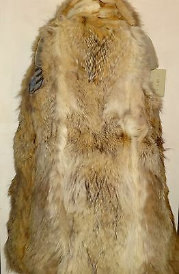 Real Coyote Skin Vest / Upcycled Long Coat / Gorgeous Fur / Luxurious