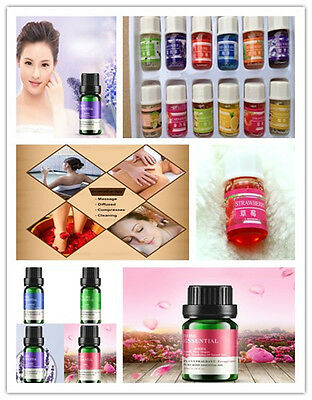 Essential Oils Useful Therapeutic Nature Pure Grade Aromatherapy Set Lot 10ml