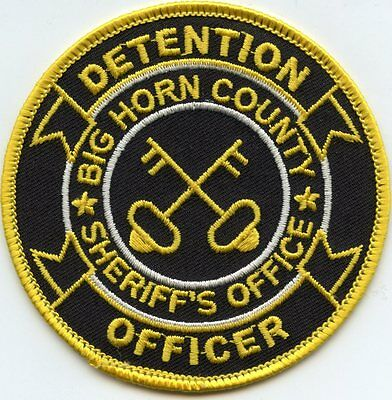 BIG HORN COUNTY WYOMING WY Detention Jail DOC CORRECTIONS SHERIFF POLICE PATCH