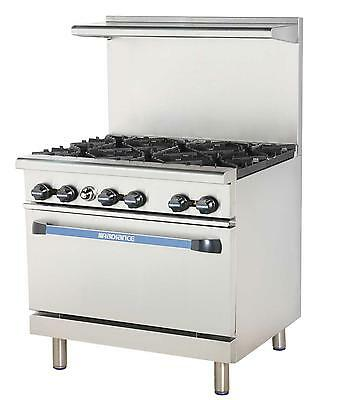 "Radiance TAR-6 36"" Restaurant Range with 6 Burners Gas"