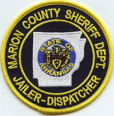 Marion County Arkansas Ar Jailer Dispatcher Doc Corrections Sheriff Police Patch