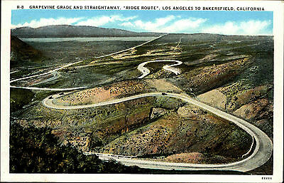 Los Angeles to Bakerfield California ~1920/30 Grapevine Grade Ridge Route Straße