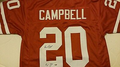 Earl Campbell auto autograph college jersey Leaf certified