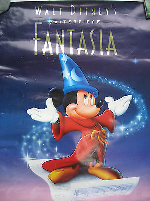 """Walt Disney Poster relaunch of the film Fantasia 23"""" x  32"""" 1980's- some wear"""