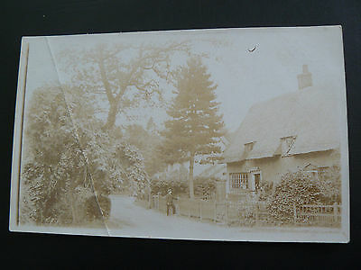 Real Photo RP Postcard showing village Post Office - from Berkshire collection