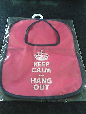"""Pink Peg Bag With Black Trim""""keep Calm And Hang Out""""100%polyester.nwt"""