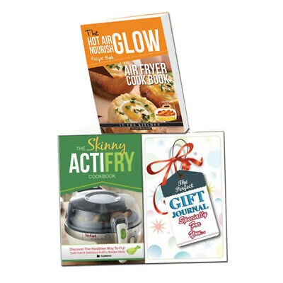 Air Fryer Cook Book, Skinny ActiFry Cookbook 2 Books Set With Gift Journal NEW