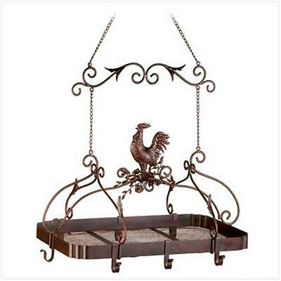 Sunrise Wholesale 12657 Attractive overhead Country Rooster Kitchen Rack