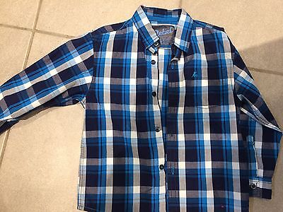 Boys Long Sleeved Checked Shirt Age 5-6