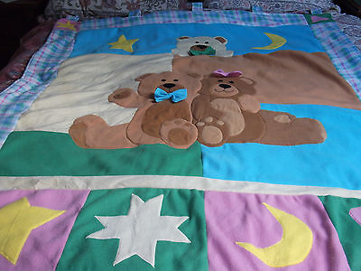 Large Teddy Bear Nursery Wall Hanging Washable 64 By 52 Inches Unisex