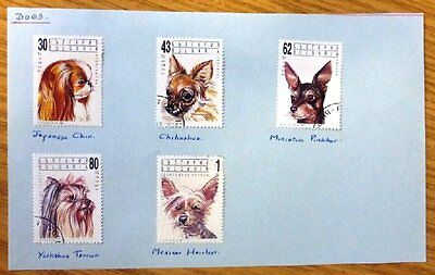 1991 Selection of 5 used hinged Stamps from Bulgaria-'Dogs'  No BU-042