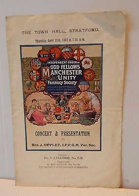 Vintage Independent Order of Oddfellows Manchester Unity Friendly Society item