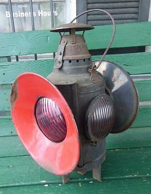 Dressel Railroad Arlington Nj Usa Rr Switch Signal Lamp 4-Way Oil Lantern Train