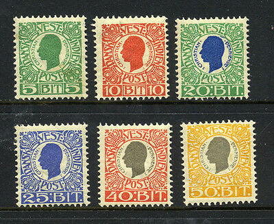 DANISH WEST INDIES , 6 x stamps mounted mint