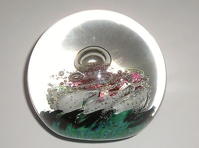 Lovely Selkirk Glass, Scotland Ball Paperweight - Signed & Dated 1998