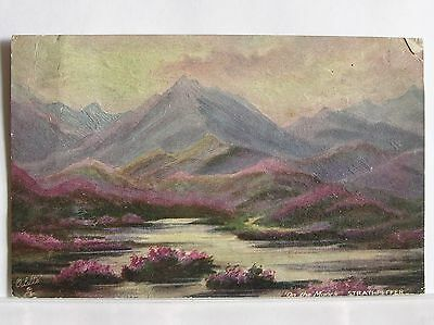 Artist Postcard - Strathpeffer - On The Moors - Ross & Cromarty Scotland - 1924
