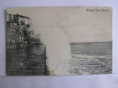 POSTCARD - DOVER - ROUGH SEA ALONG THE FROMT - KENT - c.1910