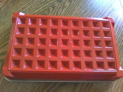 Vintage Tupperware Paprika Hot Dog Bacon Deli Meat Keeper #1292