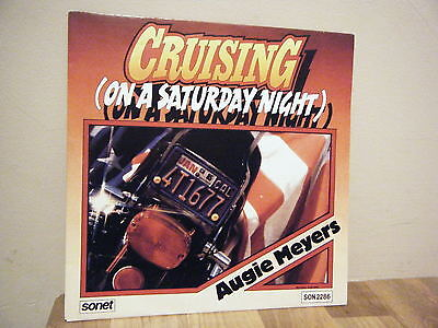 """7"""".PICTURE SLEEVE.country rock.AUGIE MEYERS.1984.CRUISING.sonet.PROMO.. DEMO"""