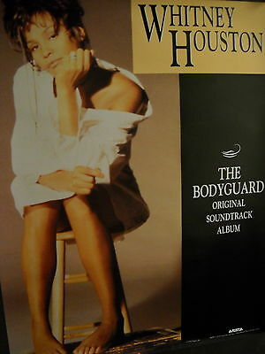 WHITNEY HOUSTON Rare 2-sided PROMO POSTER from 1993 in perfect condition