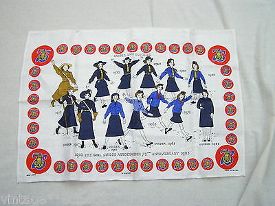 Girl Guides Association 75 Years Celebration 1910-1985 Ulster Weavers Teatowel