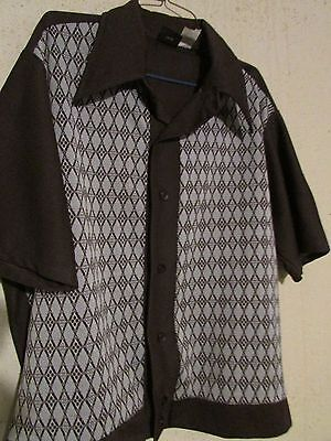 TRUE VINTAGE Brown shirt fifties 50s Boys Large rockabilly LET YOUR KID BE COOL2