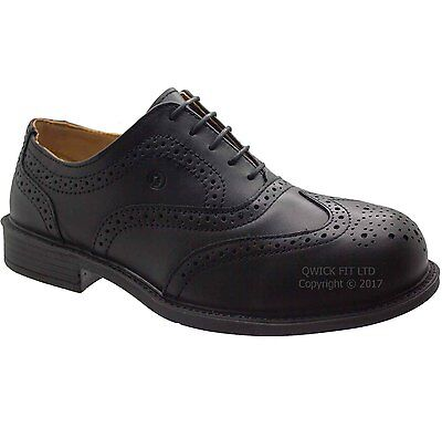 Mens Jallatte Real Leather Lace Up Casual Office Smart Formal Brogue Shoes Size