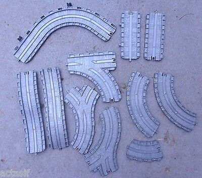 LOT 11 pc Thomas Train Gray Learning Curve Y Straight Rolling Track Take Along