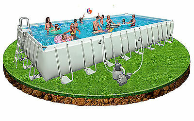 Intex 32ft x 16ft x 52in Ultra Frame Pool + pump, ladder, cover & ground cloth