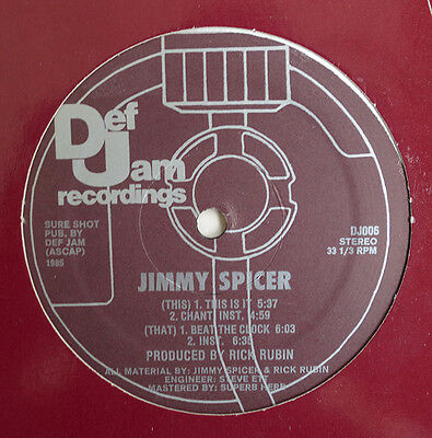 """Jimmy Spicer - This Is It 1985 Original Vinyl 12"""""""