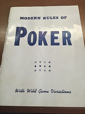 Modern rules of Poker booklet  Heines Publishing Co. 25 PR 226