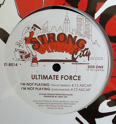 """Ultimate Force - I'm Not Playing 1989 Original Vinyl 12"""""""