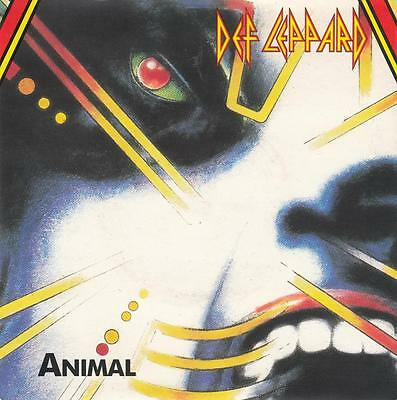 "Def Leppard - ""animal"" - Uk 7"" Vinyl Picture Sleeve Single Lep 1"