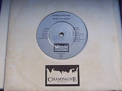 Freda Payne, Band Of Gold / The Easiest Way To Fall. Rare Champagne Issue Single