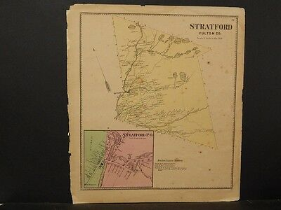 New York, Fulton County Map, 1868, Stratford Township, !J2#86