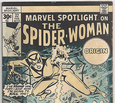 Marvel Spotlight #32 1st Appearance of Spider-Woman from Feb. 1977 in G/VG Con