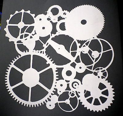 high detail airbrush stencil cogs four FREE UK POSTAGE