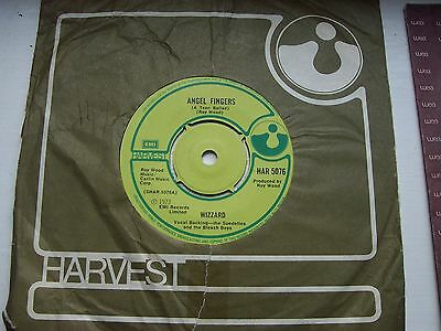Wizzard, Angel Fingers / You Got The Jump On Me. Original 1973 Harvest Single