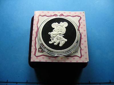 Minnie Mouse Disney It's A Baby Girl First Treasure Engraveable 999 Silver Coin