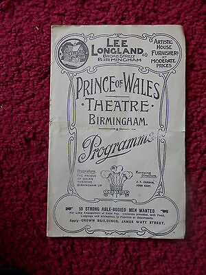 Prince Of Wales Theatre - Tonight's The Night Rare Programme