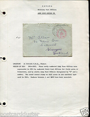 Canada/GB WW1 MILITARY POST OFFICES Collection of(25 Covers/Cards some Censored