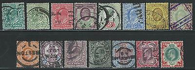 Edward Vii - Basic Set Of 15 - Good To Fine Used - Cv £275