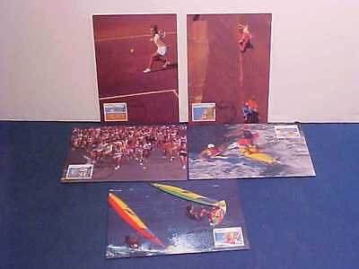 Australian Post Sports Series Ii Air Mail 1990 First Day Issue Melbourne Cards