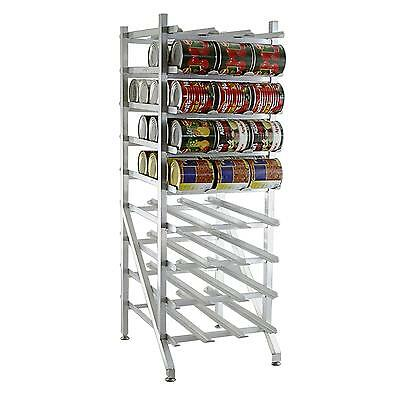 """Lakeside 335 Freestanding 77.25""""H Mobile Can Rack w/ 144 - #10 Can Cap."""
