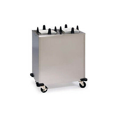 "Lakeside S5207 6-1/4"" to 7-1/2"" Non-Heated Mobile Square Dish Dispenser"